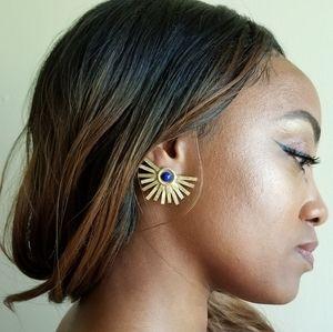 PG Garden Club Jewelry - Akennathen SunDisk Earrings by Deja Vudoo